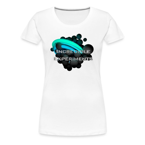 Incredible Experiments Logo grau 4000x4000.png - Frauen Premium T-Shirt