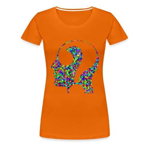 Fragender Kopf - Frauen Premium T-Shirt