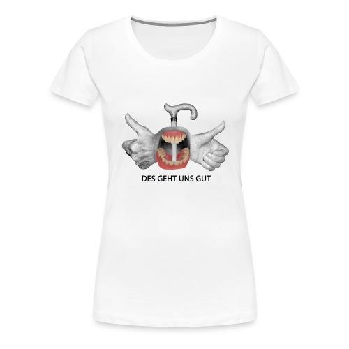 DES GEHT UNS GUT Video - Frauen Premium T-Shirt