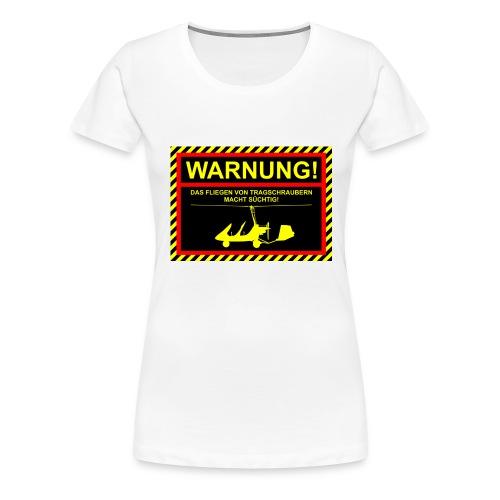 warnungmtosport - Frauen Premium T-Shirt