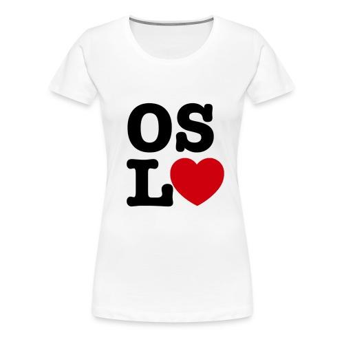 Oslove - OSL♥ - Premium T-skjorte for kvinner