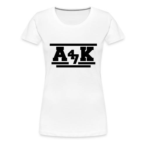 - A _K - - Women's Premium T-Shirt