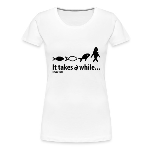 Evolution | Wit | M - Vrouwen Premium T-shirt