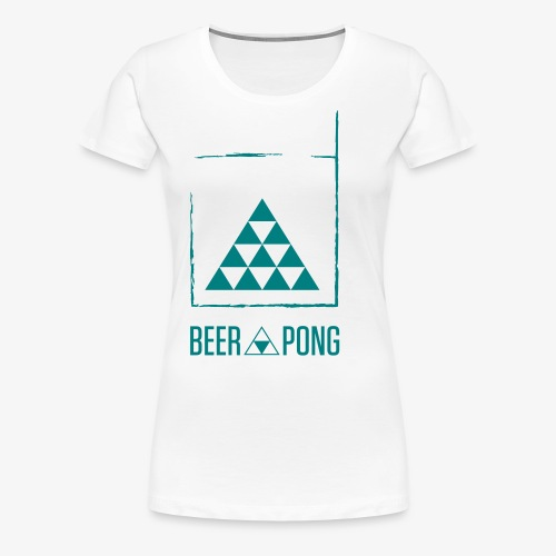 Beer Pong Table Triangle - Frauen Premium T-Shirt