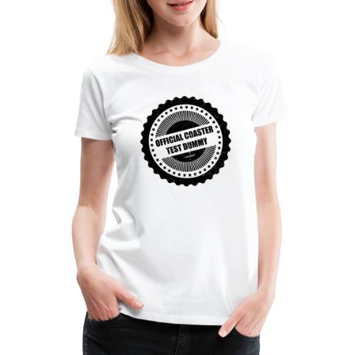 Mannequin d'essai officiel de montagnes russes - T-shirt Premium Femme