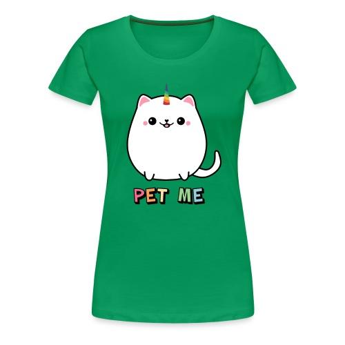 Regenbogen Einhorn Katze - Frauen Premium T-Shirt