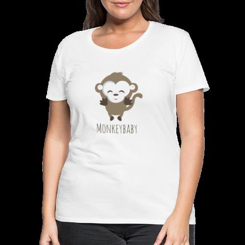 monkeybaby Logo - Frauen Premium T-Shirt