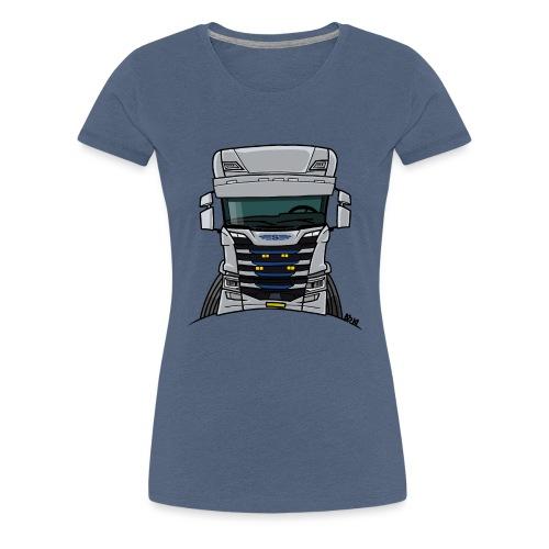 0814 S truck grill wit - Vrouwen Premium T-shirt
