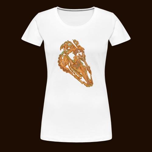 Crâne Dentelle - T-shirt Premium Femme