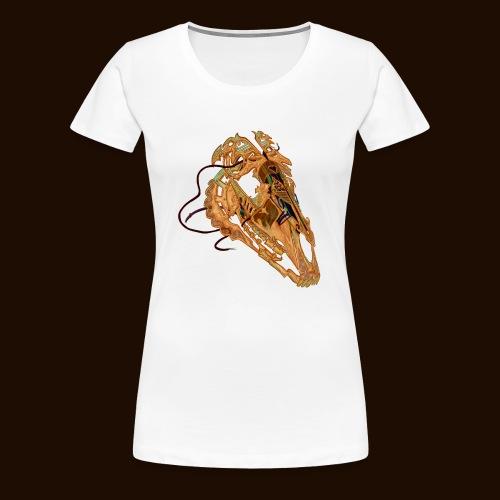 Crâne Câblé - T-shirt Premium Femme