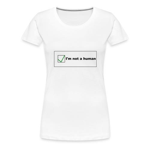 Human Captcha - Frauen Premium T-Shirt
