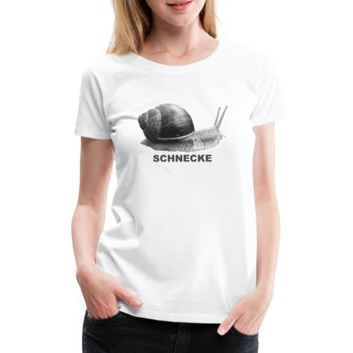 Schnecke Weichtier grau - Frauen Premium T-Shirt