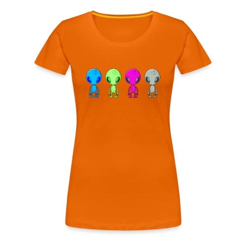 Multicolored Aliens - Women's Premium T-Shirt