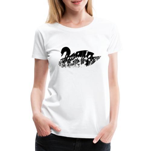 Schwan Silhouette mit Schilf | Wasservogel | Natur - Frauen Premium T-Shirt