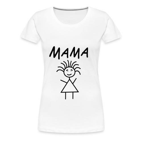 Mama by www.mamapapakind.spreadshirt.de - Frauen Premium T-Shirt