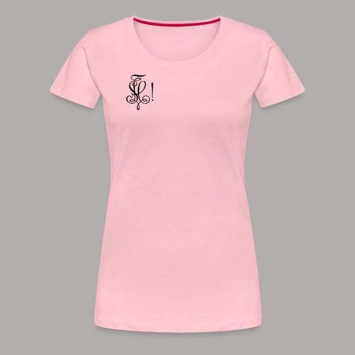Zirkel, schwarz (vorne) - Frauen Premium T-Shirt