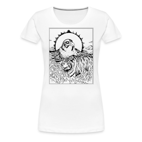 Tiger Falcon Concept - Frauen Premium T-Shirt