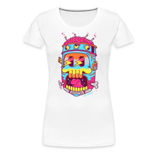 Screaming Skull - T-shirt Premium Femme