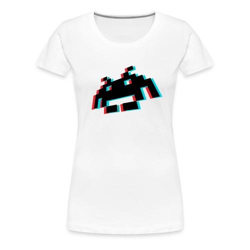 invader3dschwarz1 - Frauen Premium T-Shirt