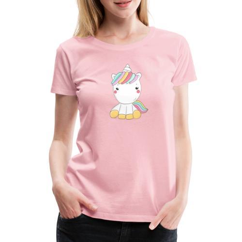 Niedliches Zauber Kawaii Einhorn in Pastelfarben - Frauen Premium T-Shirt