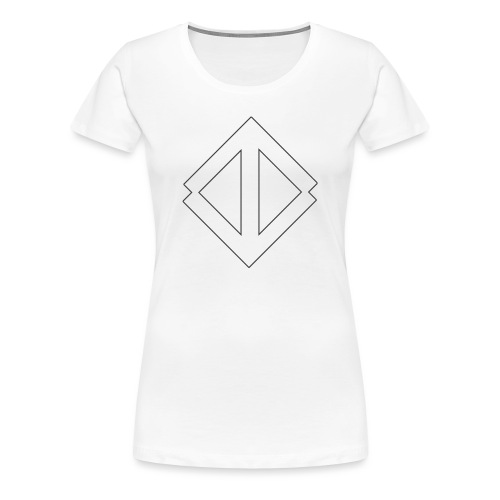 Big White Logo - Premium-T-shirt dam