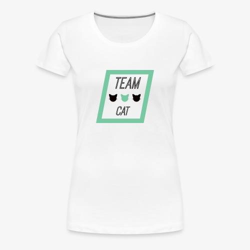 Team Cat - Slogan Tee - T-shirt Premium Femme