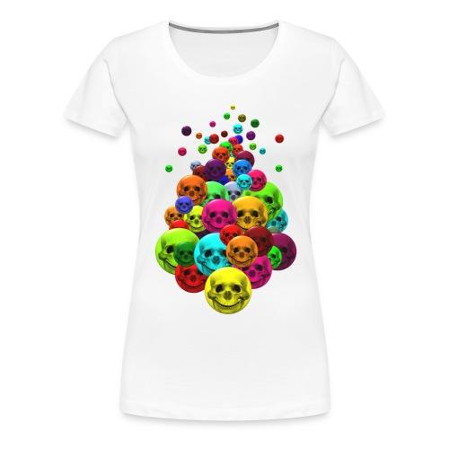 Bunter Haufen Schädelsmileys - Frauen Premium T-Shirt