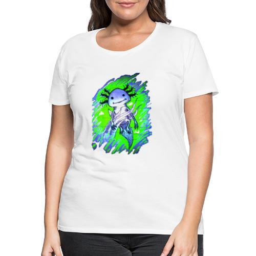 Axolotl - Naisten premium t-paita