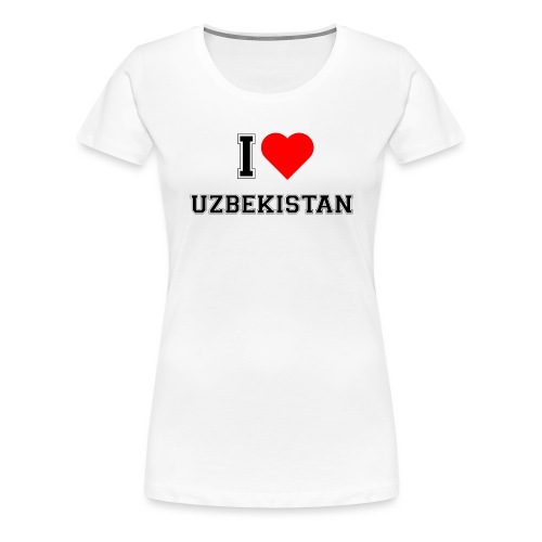 I Love Heart Uzbekistan Ladies T-Shirt