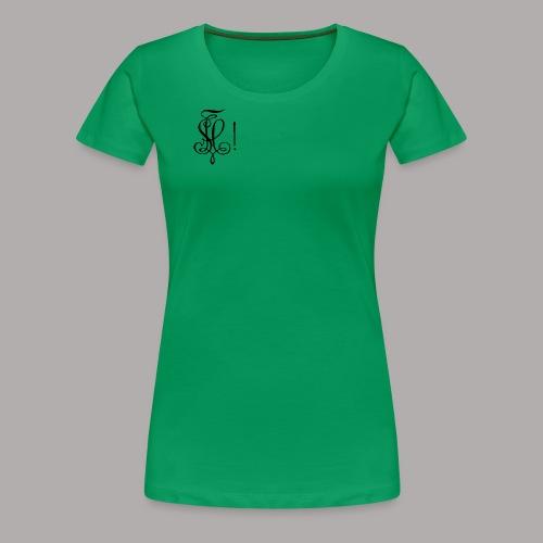 Zirkel, schwarz (vorne) Zirkel, schwarz (hinten) - Frauen Premium T-Shirt