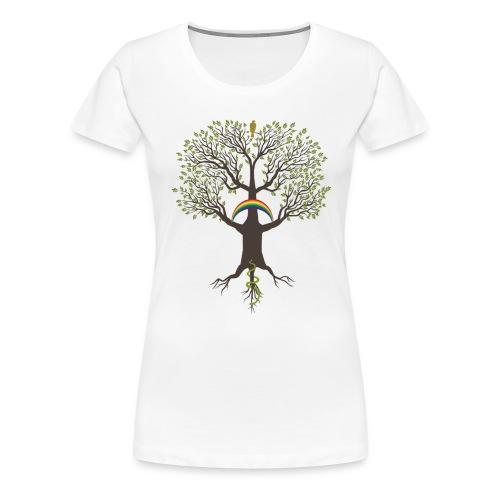 Yggdrasil mörk - Premium-T-shirt dam