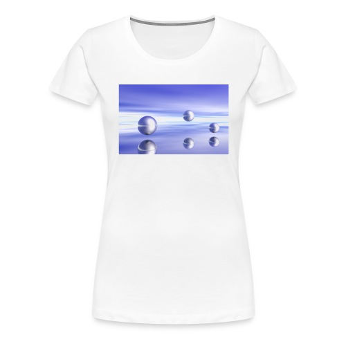 Schwebende Kugeln (3D Landschaft) - Frauen Premium T-Shirt