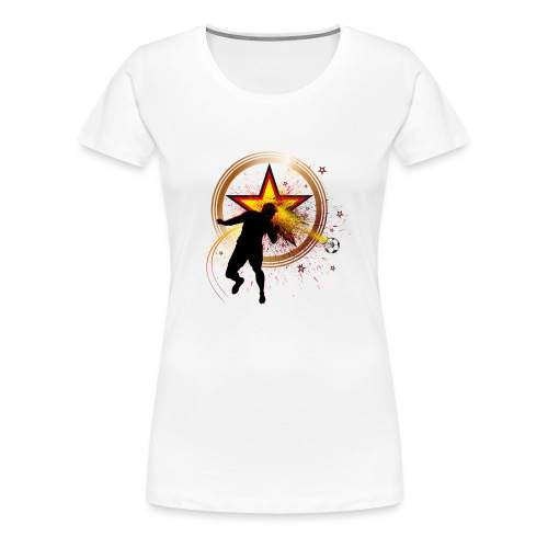 Kopfball Star Deutschland B - Frauen Premium T-Shirt