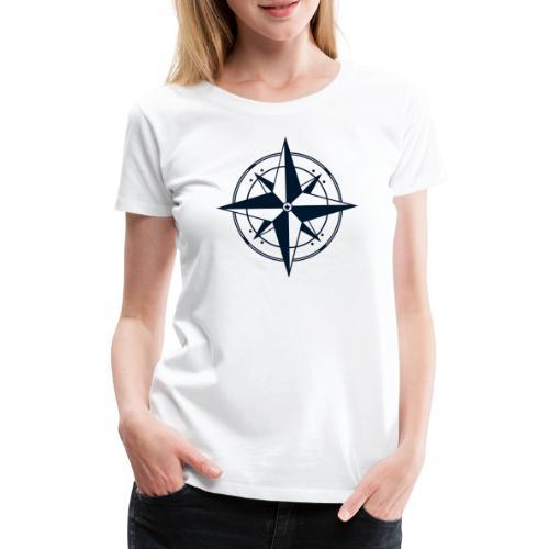 Kompass / Dunkelblau - Design - Frauen Premium T-Shirt