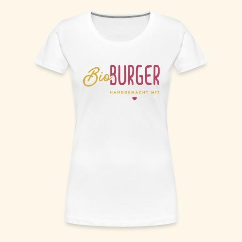 BIO BURGER - Logo Querformat - Frauen Premium T-Shirt