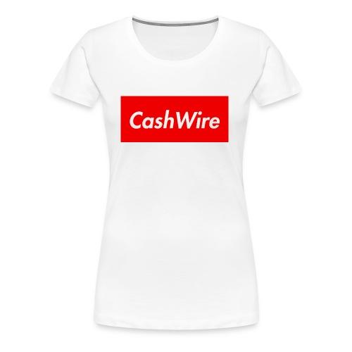 CashWire Box Logo Apparel - Women's Premium T-Shirt