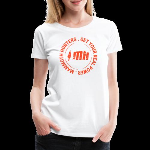 Mammoth Hunters / Círculo naranja - Camiseta premium mujer