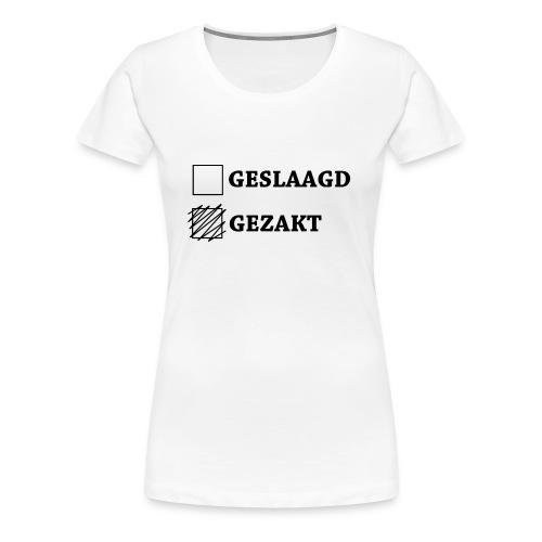 Gezakt aangekruist - Vrouwen Premium T-shirt