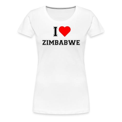 I love Zimbabwe - Frauen Premium T-Shirt
