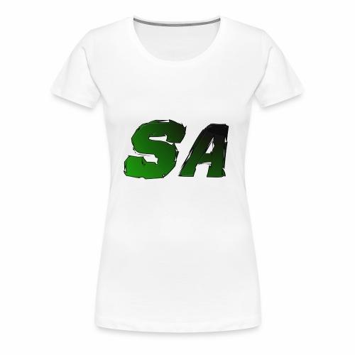 Grön SA Logo - Premium-T-shirt dam