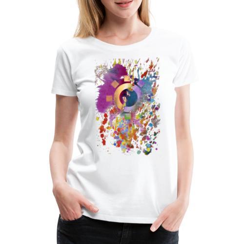 watch the clouds... - Frauen Premium T-Shirt