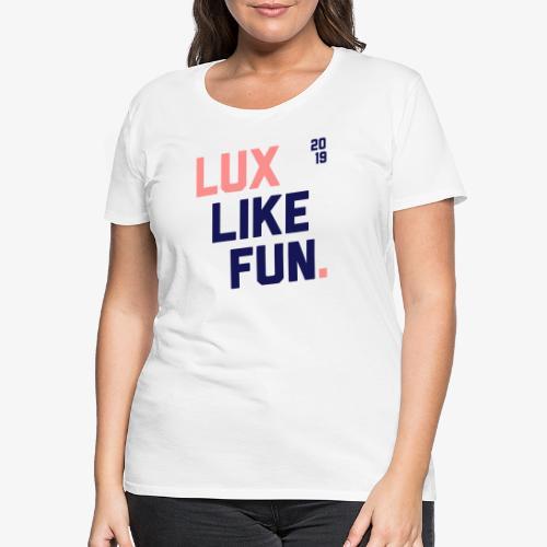 Lux Print V2 - Frauen Premium T-Shirt
