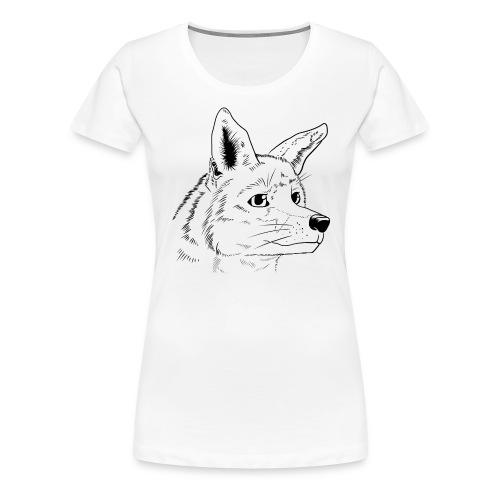 Strichzeichnung Fuchs - Frauen Premium T-Shirt