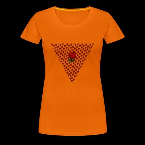 Dreieck Rose - Frauen Premium T-Shirt