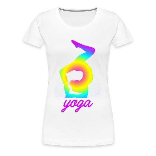 yoga rainbow gym fitness wellness scorpion dance - T-shirt Premium Femme