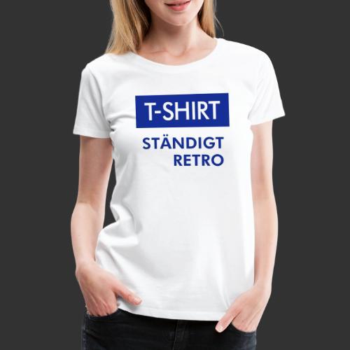 BLÅVITT T-SHIRT - Premium-T-shirt dam
