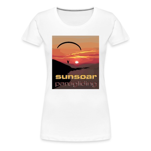 sunset flying - Women's Premium T-Shirt