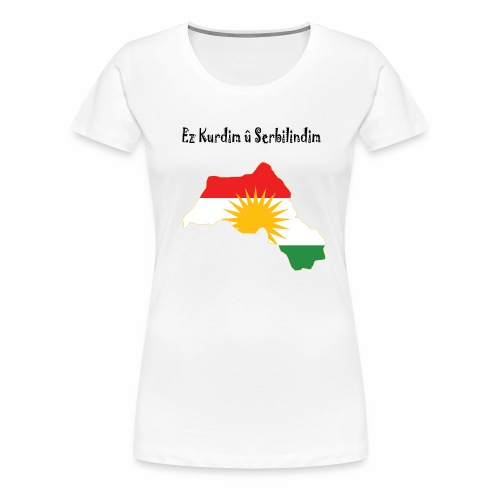 Ez kurdim u serbilindim - Premium-T-shirt dam