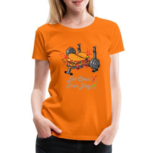 Hamburger Développé Couché Musculation - T-shirt Premium Femme