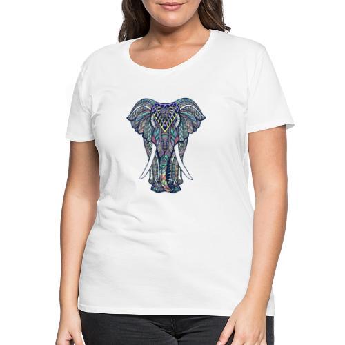 éléphant multicolore - T-shirt Premium Femme